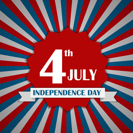 liberal: Independence Day Poster Vector Illustration Illustration