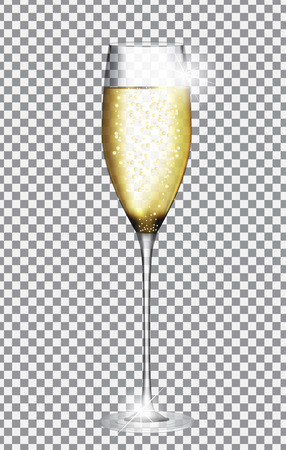 Glass of Champagne Vector Illustration Vectores