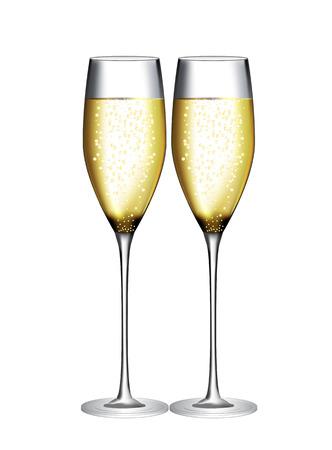 Glas champagne Vector Illustration