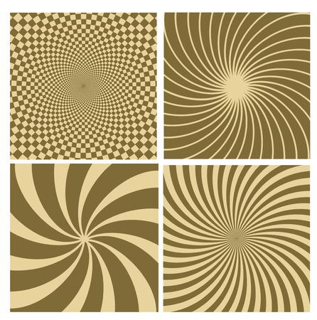 hypnotic: Black and white hypnotic background.