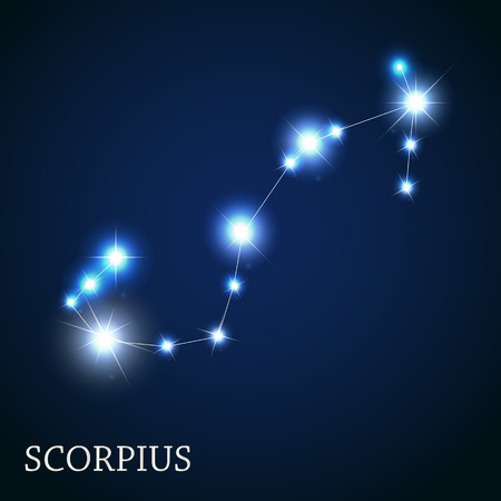 illust: Scorpius Zodiac Sign of the Beautiful Bright Stars Vector Illust Illustration