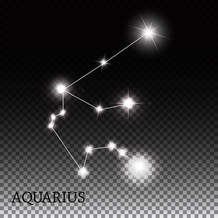 illust: Aquarius Zodiac Sign of the Beautiful Bright Stars Vector Illust