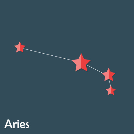 aries zodiac: Aries Zodiac Sign of the Beautiful Bright Stars Vector Illustrat Illustration