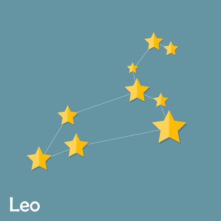 zodiacal symbol: Leo Zodiac Sign of the Beautiful Bright Stars Vector Illustratio Illustration