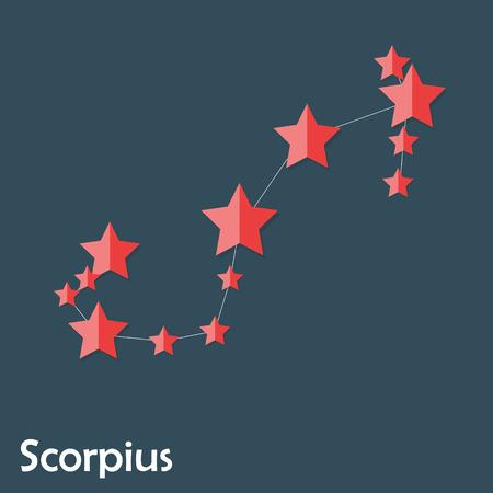 prognosis: Scorpius Zodiac Sign of the Beautiful Bright Stars Vector Illust Illustration