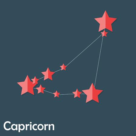illus: Capricorn Zodiac Sign of the Beautiful Bright Stars Vector Illus Illustration
