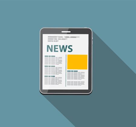 Online News Vector illustration. Flat computing background Vector