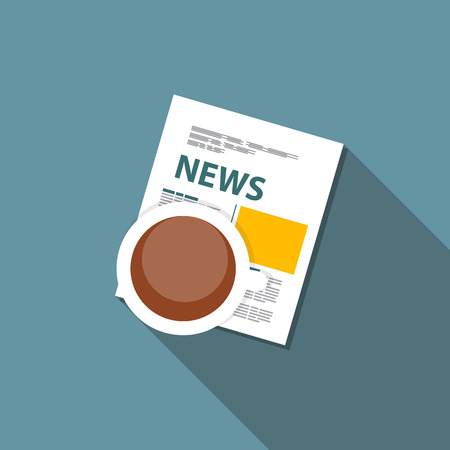 online news: Online News Vector illustration. Flat computing background Illustration