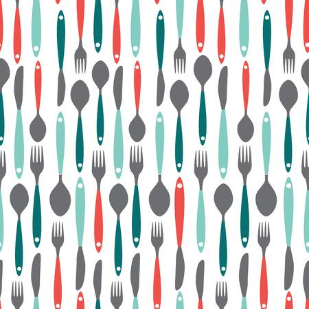 designs: Seamless Pattern with Forks, Spoons end Knifes. Vector Illustration. EPS10 Illustration