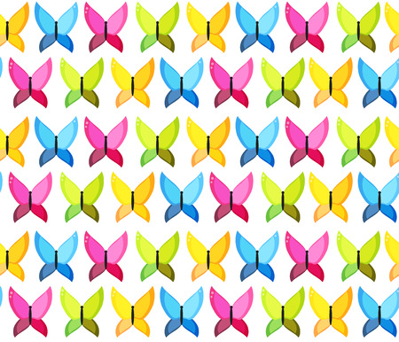 lightweight ornaments: Butterfly Seamless Pattern Background Vector Illustration EPS10