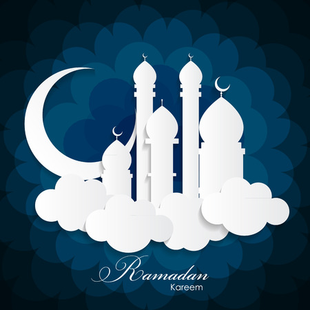 Ramadan Kareem Background Design. Vector Illustration Illustration