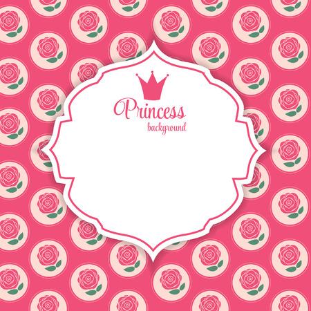 princesa: Princesa de la Corona ilustración vectorial.