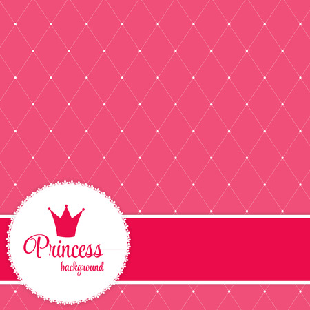 frog queen: Princess Crown  Background Vector Illustration.