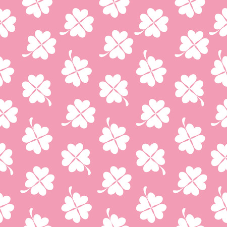 illus: Abstract Natural Clover Seamless Pattern Background Vector Illus