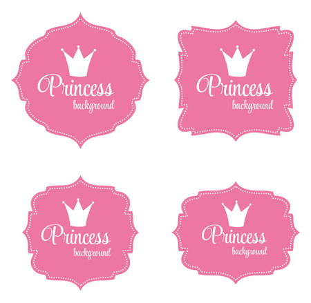 Princess Crown Frame Vector Illustration