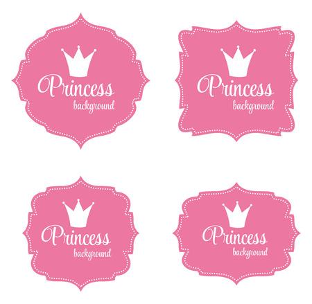 Princess Crown ramka ilustracji wektorowych