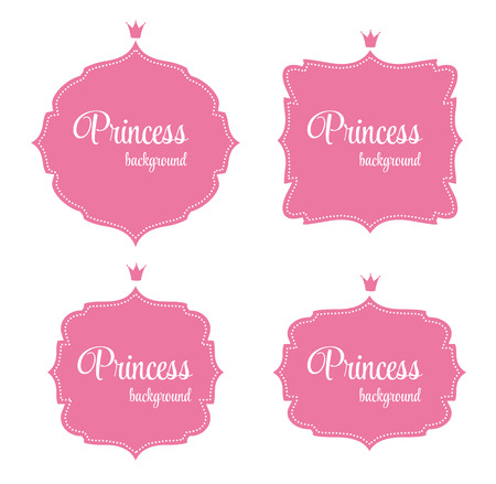 frog queen: Princess Crown Frame Vector Illustration
