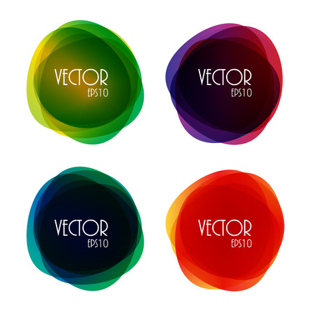bright colour: Set of Colorful Round Circle Illustration