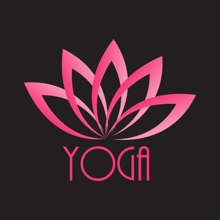 recovery position: Lotus Flower Sign for Wellness, Spa and Yoga.