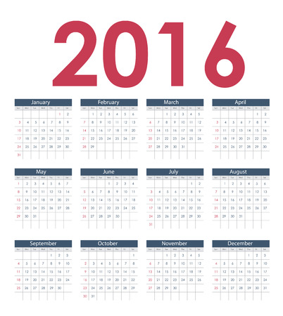end of the days: 2016 New Year Calendar