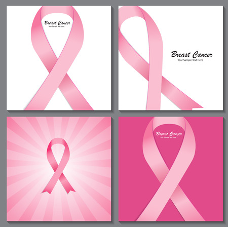 유방암 인식 핑크 리본 배경