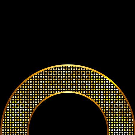 glisten: Abstract Golden Shiny Frame  Illustration