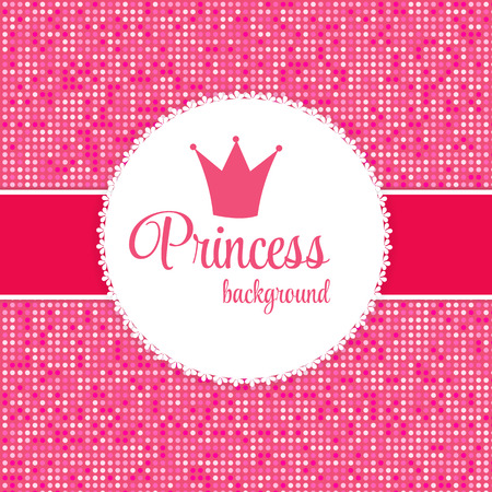 princess frog: Pink Princess Crown Frame