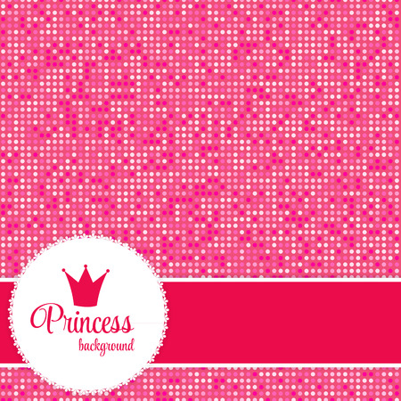 princess: Pink Princess Crown Frame