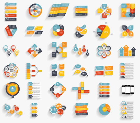 population growth: Collection of Infographic Templates for Business Vector Illustration EPS10