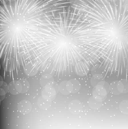 fireworks: Ilustraci�n del vector de fuegos artificiales, saludo en un fondo oscuro Vectores