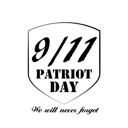 forget: Patriot Day the 119 Label, We Will Never Forget  Vector Illustration