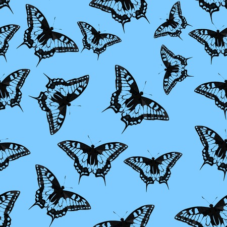 lightweight ornaments: Butterfly Seamless Pattern Background Vector Illustration