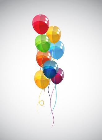 Color Glossy Balloons Background Vector Illustration   Иллюстрация