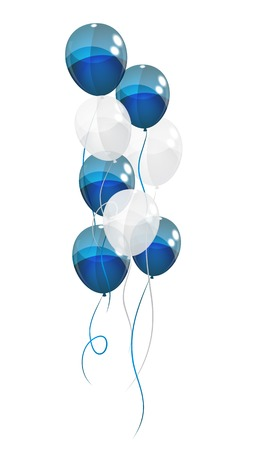 Color Glossy Balloons Background Vector Illustration   Illustration