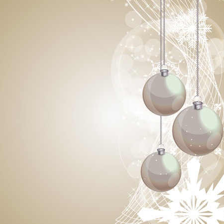 contemporary design: Abstract Beauty Christmas and New Year Background