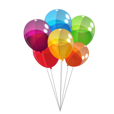 bright card: Color Glossy Balloons Background Vector Illustration   Illustration