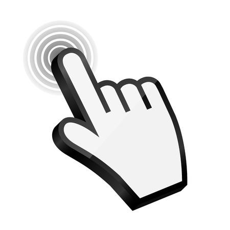 3d mouse: Mouse hand cursor vector illustration