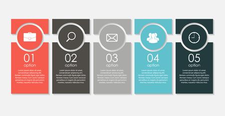 sjabloon: Infographic Templates voor Business Vector Illustratie. Stock Illustratie