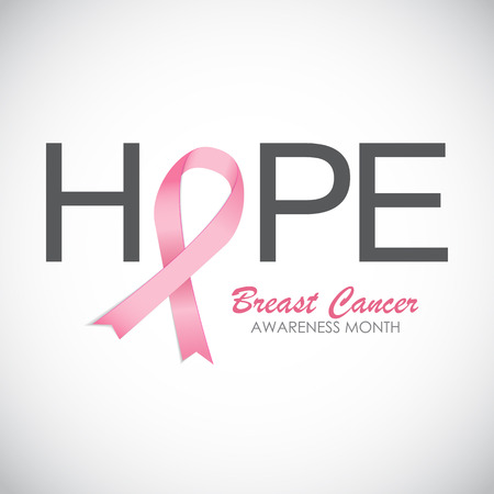 rak: Breast Cancer Awareness Pink Ribbon ilustracji wektorowych EPS10