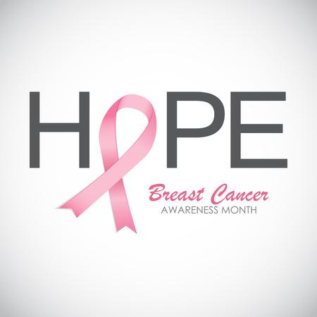 cancer de mama: Conciencia del cáncer de pecho rosado de la cinta ilustración vectorial EPS10