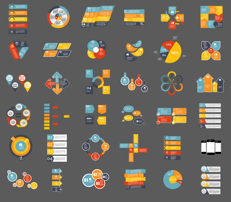 mega city: Collection of Infographic Templates for Business Vector Illustration EPS10