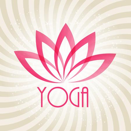 flor de loto: Lotus Flower sesión para Wellness, Spa y Yoga. Ilustración vectorial