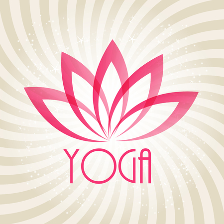 lotus flower: Lotus Flower Sign for Wellness, Spa and Yoga. Vector Illustration