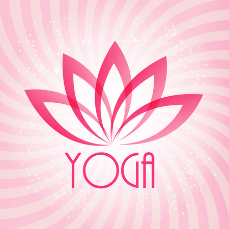 wellness spa: Lotus Flower Sign for Wellness, Spa and Yoga. Vector Illustration