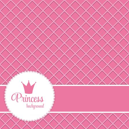 frog queen: Princess Crown Frame Vector Illustration. EPS10