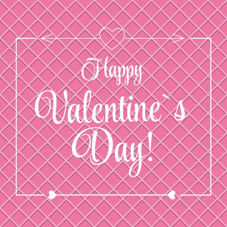 st  valentine: Vector St Valentine Days Greeting Card in Retro Style Design