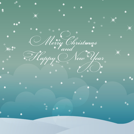 lighting technique: Abstract Beauty Christmas and New Year Background. Vector Illustration Illustration