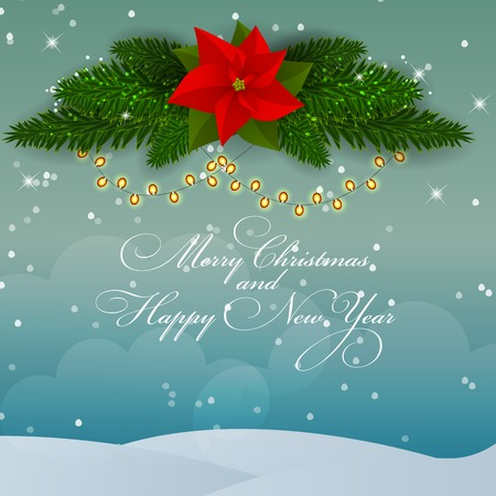 Abstract Beauty Christmas and New Year Background. Vector Illustration Illustration