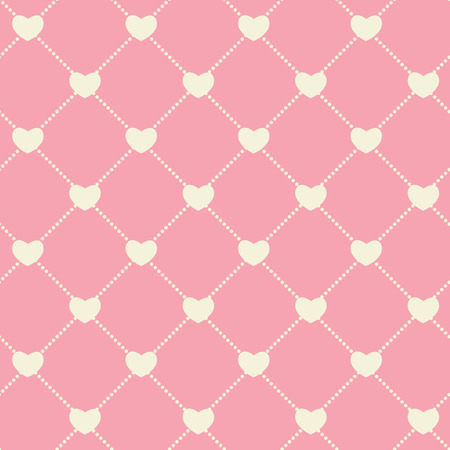 Romantic Seamless Pattern Background Vector Illustration EPS10
