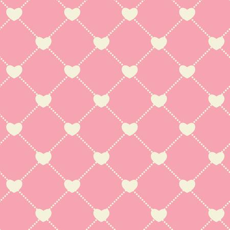 Romantic Seamless Pattern Background Vector Illustration EPS10